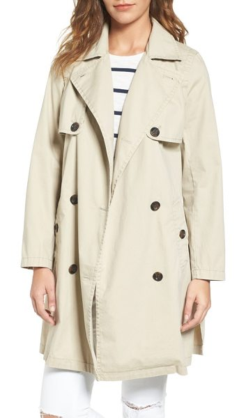 Madewell abroad trench coat in dark rope - Whether it's raining or not, this lightweight cotton...