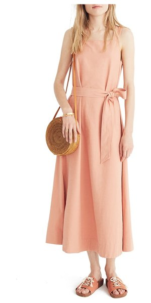 MADEWELL apron tie waist dress in antique coral - When the temps start to rise, dress in the color of...