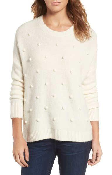 Madewell bobble pullover sweater in antique cream - Tonal bobbles add a sweet touch of whimsy to an...