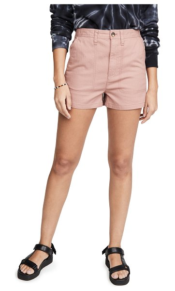 Madewell camp shorts in faded rosebud