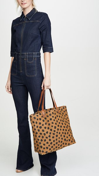 Madewell canvas transport tote bag in faded birch