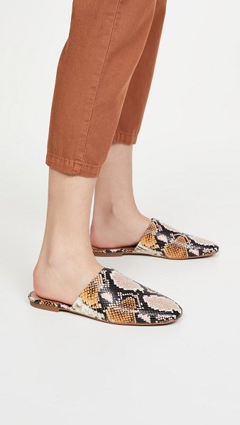 Madewell carter round toe mules in forgotten petal multi