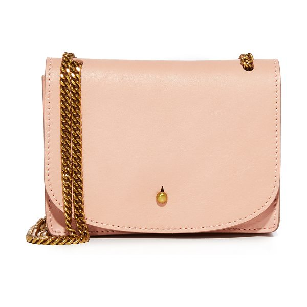 MADEWELL the chain cross body bag in tinted blush - A petite Madewell cross-body bag with a minimalist...