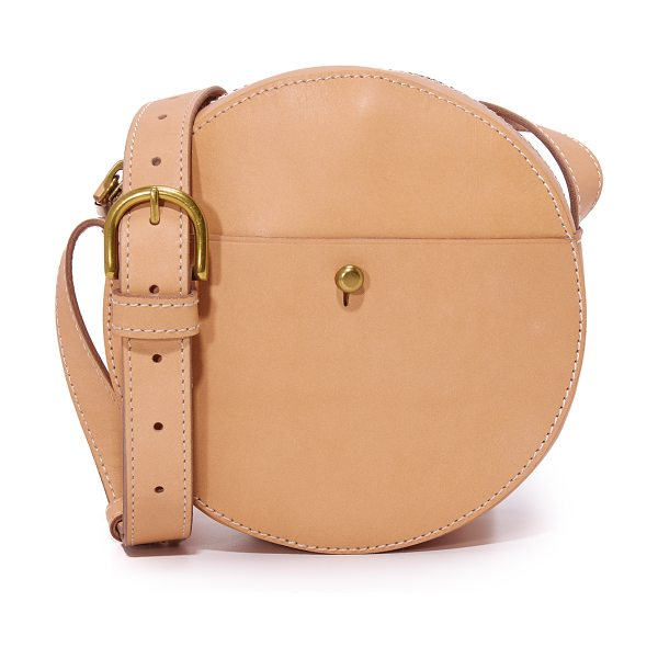 Madewell circle cross body bag in natural buff - A smooth leather Madewell bag with a circular...