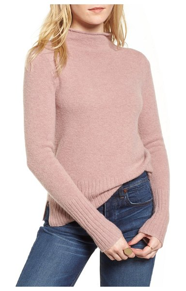 Madewell inland rolled turtleneck sweater in heather blossom - A lightweight, cozy turtleneck knit with a sumptuous...