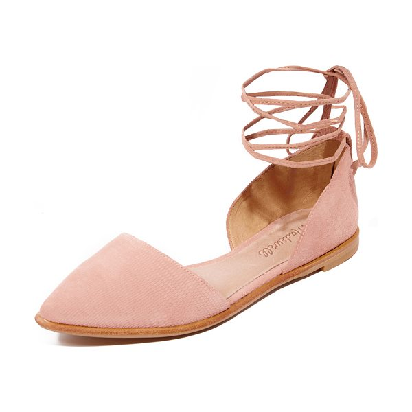 MADEWELL arielle d'orsay flats - Embossed suede lends a unique texture to these...