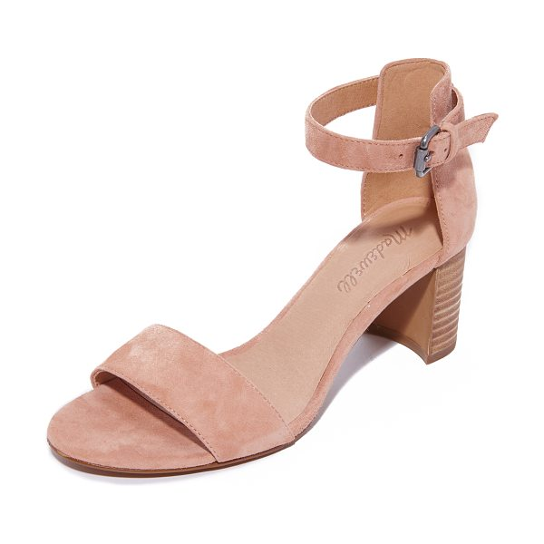 Madewell lainy ankle strap city heels in dusty clay - Simple suede Madewell sandals, styled with a buckle...