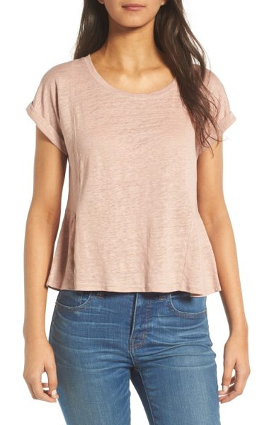 MADEWELL modern linen gather top - A gathered back panel adds flirtatious movement to a...