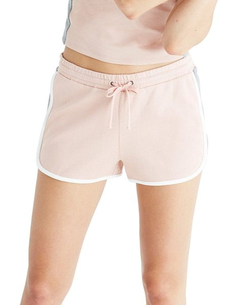 Madewell offline colorblock shorts in dusty blush - Whether you're grabbing coffee with friends or cooling...