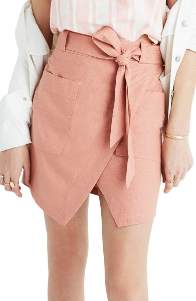 MADEWELL portside faux wrap silk skirt - An easy faux-wrap silhouette creates a put-together look...