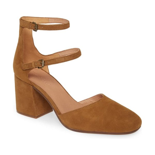 Madewell rae ankle strap pump in brown
