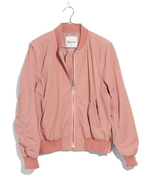 MADEWELL side zip bomber jacket - Side zip details subtly update a classic bomber jacket...