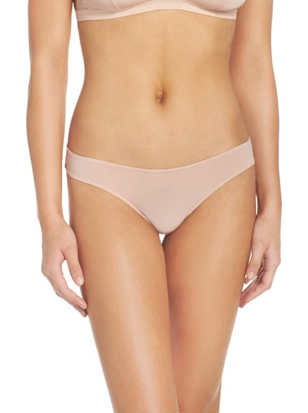 Madewell skin mesh thong in light stone - The perfect everyday thong cut from barely there micro...