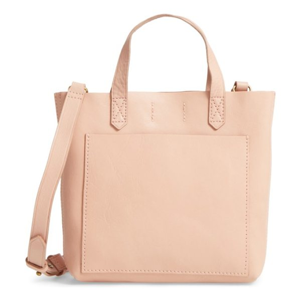 Madewell small transport leather crossbody in tinted blush - This sized-down version of Madewell's signature...