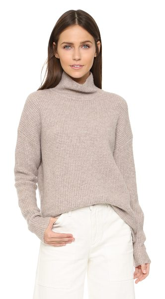 Madewell Solid aria turtleneck in heather fawn - A waffle knit Madewell sweater with a cozy ribbed...