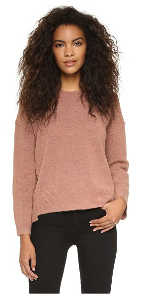 Madewell Sonia seam shift sweater in sunset rose - Diagonal raised seams lend an undone touch to this boxy...