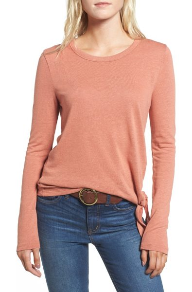 MADEWELL soundcheck side tie tee in golden apricot - A simple side tie adds serious character to this...