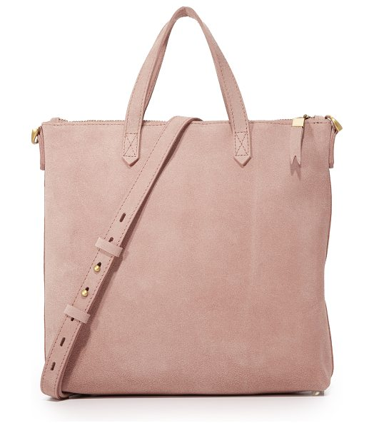 Madewell suede mini transport tote in dusty clay - A suede Madewell handbag in a timeless, mid-sized...
