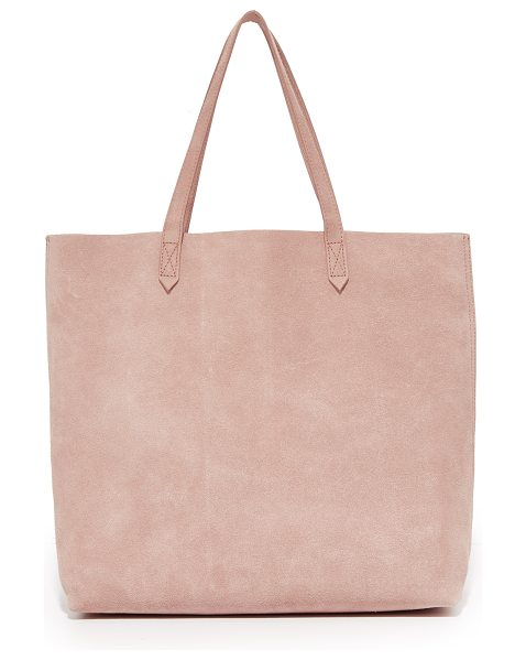 Madewell suede transport tote in dusty clay - A suede Madewell tote in a simple, classic design. Slim...