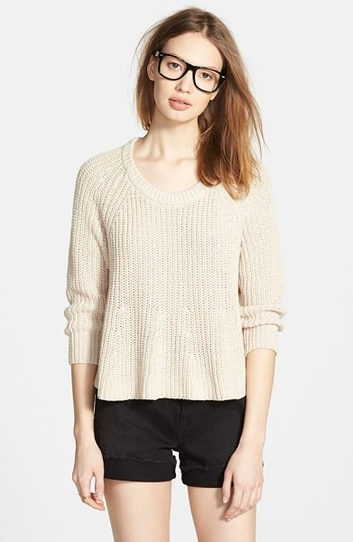 Madewell swing crop sweater in pebble stone