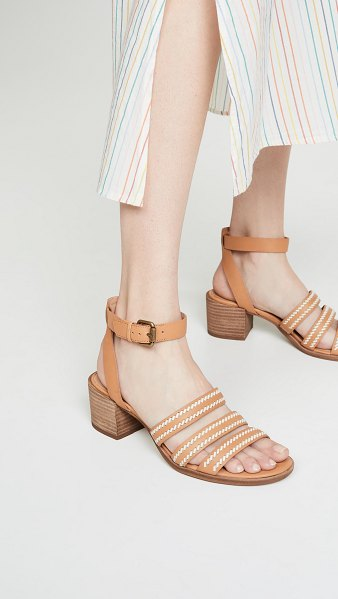 Madewell the lily whipstitch sandals in desert camel