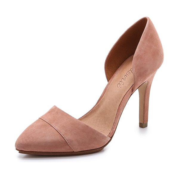 Madewell The suede dorsay heels in dried rose - Plush suede and a d'orsay profile give these Madewell...