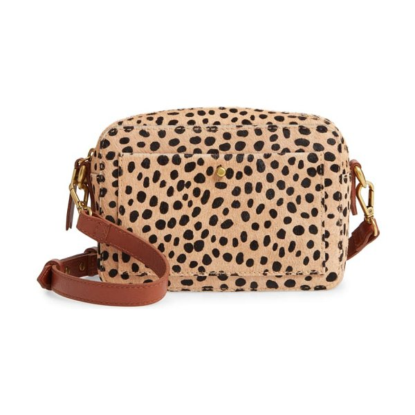 Madewell the transport camera bag: dotted calf hair edition in brown
