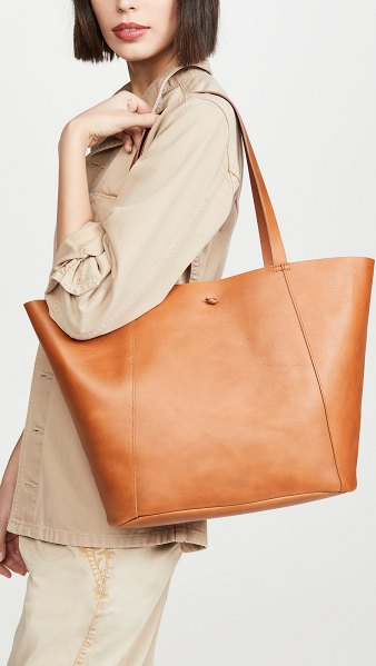 Madewell tie knot tote carryall bag in burnished caramel