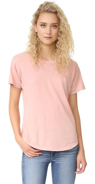 Madewell whisper cotton crew tee in pink - A slim-fit Madewell tee in soft slubbed jersey. Crew...