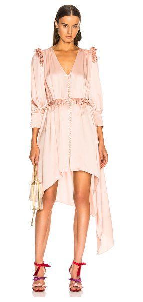 Magda Butrym Tarragona Dress in pink - 100% silk.  Made in Poland.  Dry clean only.  Unlined. ...