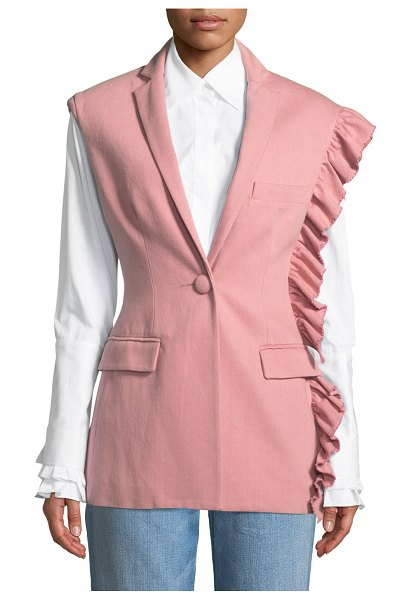 Maggie Marilyn Girl With A Dream Shoulder-Ruffle Vest in pink