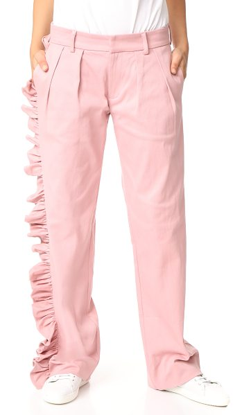 Maggie Marilyn i'll stand beside you pants in pink - NOTE: Sizes listed are UK. A gathered ruffle flows one...