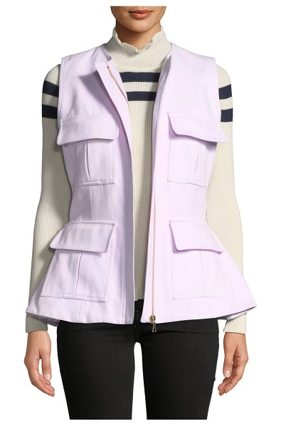 Maggie Marilyn So Glad We Made It Zip-Front Peplum Utility Vest in pink