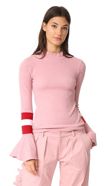 Maggie Marilyn stronger than you know sweater in pink - NOTE: Sizes listed are UK. This formfitting Maggie...