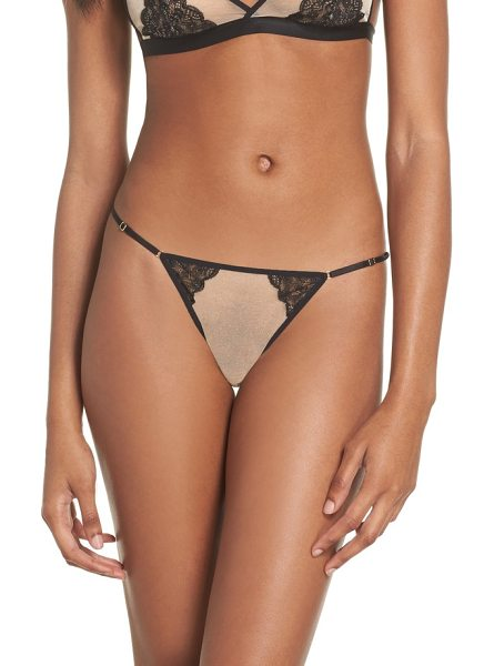MAISON CLOSE l'antichambre mini string thong - Shimmer and lace define the romantic look of this barely...