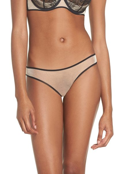Maison Close l'antichambre sheer panties in black / nude