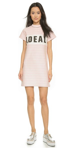 Maison Kitsune Ideal print dress in cream/light pink - Inside out french terry lends soft texture to this...
