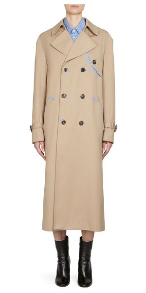 MAISON MARGIELA double-breasted trench coat in beige - Deconstruction is a major theme woven through Maison...