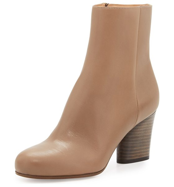 """MAISON MARGIELA Leather 70mm Ankle Boot in tan/camel - Maison Martin Margiela calf leather ankle boot. 2.8""""..."""