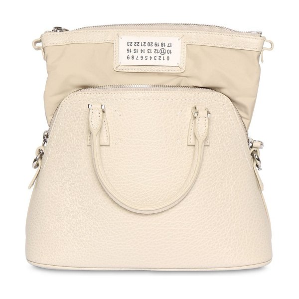 MAISON MARGIELA Mini 5ac leather bag in birch white