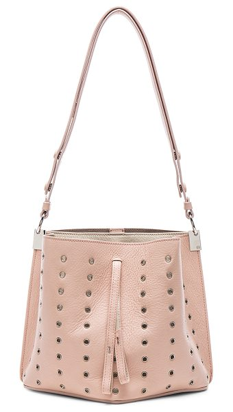 MAISON MARGIELA Mini eyelet leather bag in pink,neutrals - Grained calfskin leather with raw lining and silver-tone...