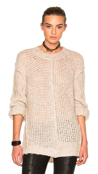 MAISON MARGIELA Multi Stitch Sweater in champagne - 55% alpaca 23% wool 22% polyamide. Made in Italy. Dry...