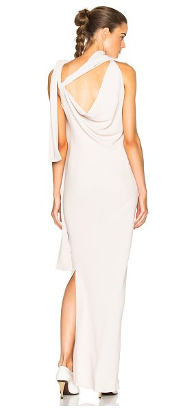 MAISON MARGIELA Opaque Cady Gown in neutrals -  - Self: 65% acetate 35% silk - Lining: 54% acetate 26%...