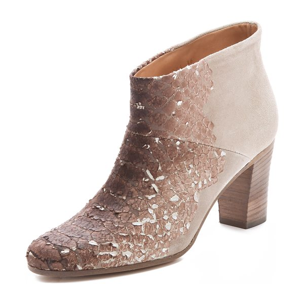 MAISON MARGIELA Paper snake booties in brown - Exclusive to Shopbop. Maison Martin Margiela reworks its...