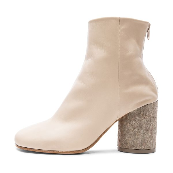 MAISON MARGIELA Baby calf boots in neutrals - Genuine calfskin leather upper and sole.  Made in Italy....