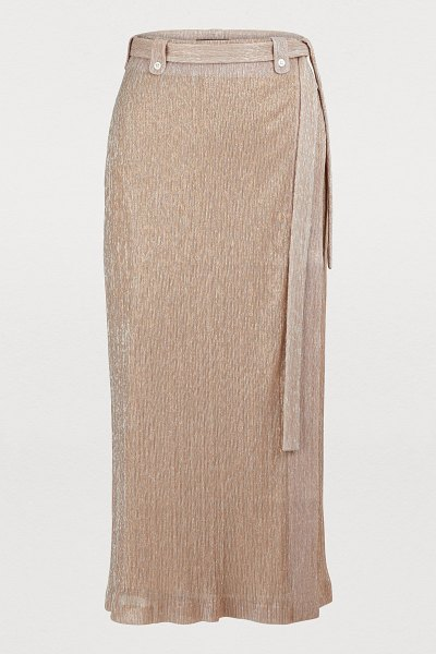 Maison Père Long skirt in pink