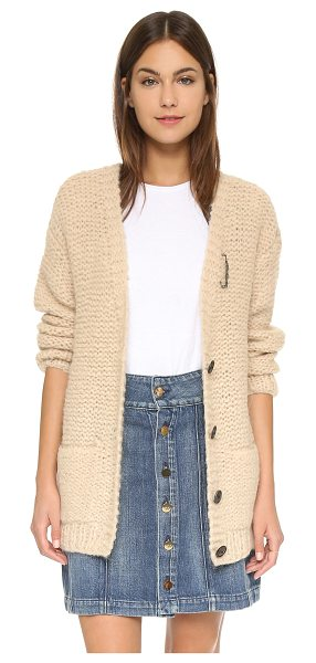 MAISON SCOTCH Chunky knit cardigan in cream - A slouchy Maison Scotch cardigan in a soft alpaca blend....