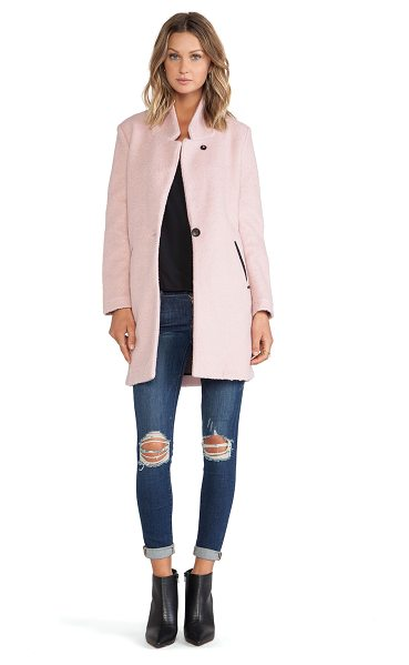Maison Scotch Classic tailored jacket in pink - Self: 50% wool 50% polyLining: 80% poly 20% nylon. Dry...