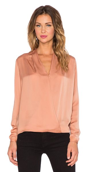 Maison Scotch Crossover front blouse in peach