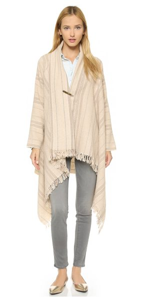 MAISON SCOTCH Wool blend poncho - A handkerchief hem lends slouchy drape to this Maison...